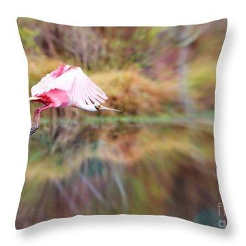Birds Eye View Throw Pillow by Carol Groenen