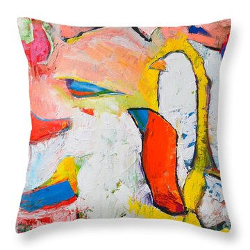 Birds In Paradise Throw Pillow by Ana Maria Edulescu