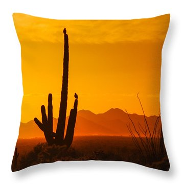 Birds In Silhouette Throw Pillow by Penny Lisowski