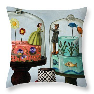 Bittersweet Throw Pillow by Leah Saulnier The Painting Maniac