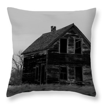 Black And White Forlorned Throw Pillow by Jeff Swan