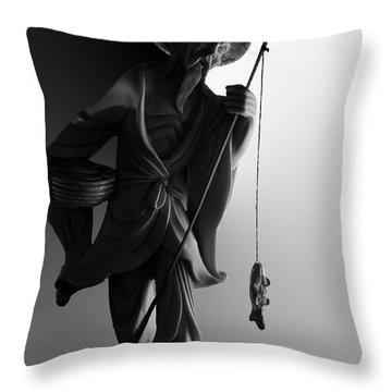 Black And White Ivory Fisherman Throw Pillow by Sean Kirkpatrick