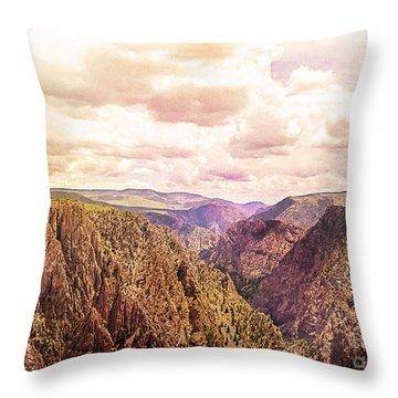 Black Canyon Colorado Throw Pillow by Janice Rae Pariza