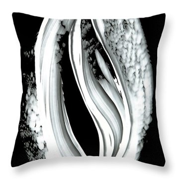 Black Magic Inverted 2 Throw Pillow by Sharon Cummings