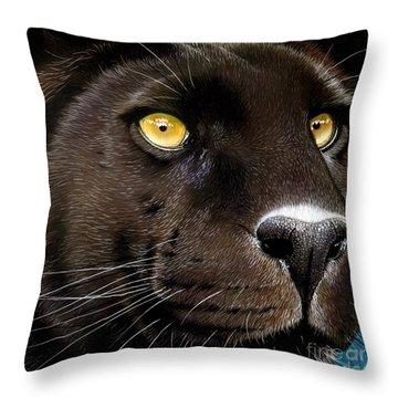 Black Panther Throw Pillow by Jurek Zamoyski
