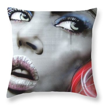 'bleeding Rose' Throw Pillow by Christian Chapman Art