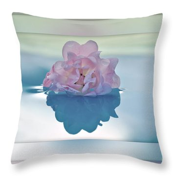 Blend Of Pastels Throw Pillow by Kaye Menner