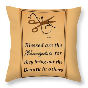 Blessed Are The Hairstylists  Throw Pillow by Movie Poster Prints