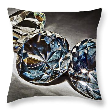 Bling Throw Pillow by Marcia Colelli