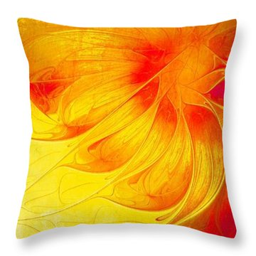 Blooming Spring Throw Pillow by Amanda Moore