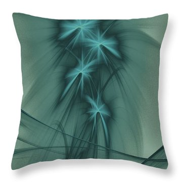 Blooming Stars 2 Throw Pillow by Elizabeth McTaggart