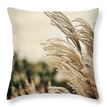 Blowing In The Wind Throw Pillow by Heather Applegate