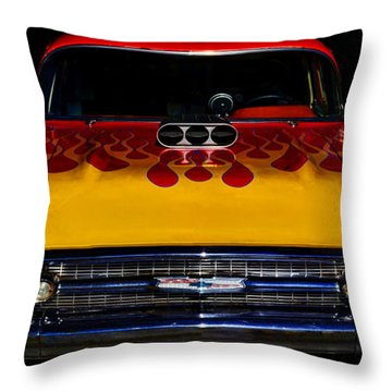 Blown 57 Chevy Throw Pillow by Ken Smith