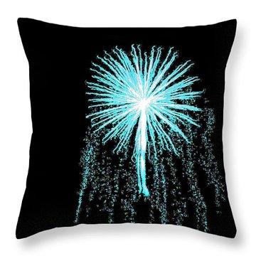 Blue Angel Throw Pillow by Katie Beougher