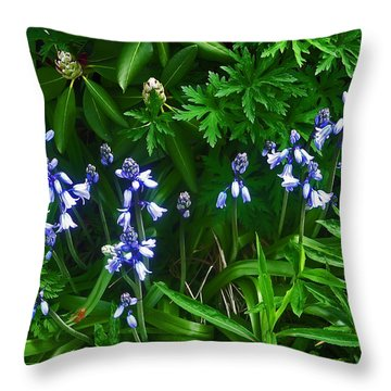 Blue Bells Throw Pillow by Aimee L Maher Photography and Art Visit ALMGallerydotcom