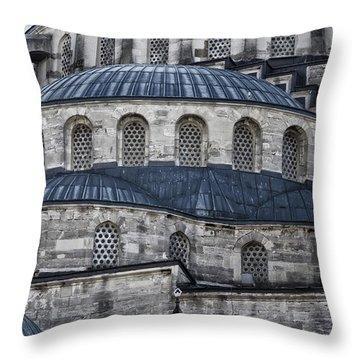 Blue Dawn Blue Mosque Throw Pillow by Joan Carroll