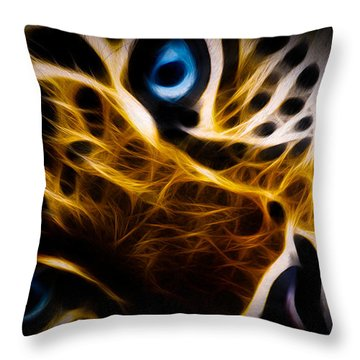 Blue Eye Throw Pillow by Aged Pixel