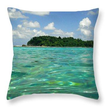 Blue Lagoon Throw Pillow by Carey Chen