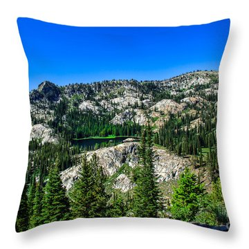Blue Lake Throw Pillow by Robert Bales