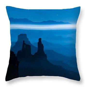 Blue Moon Mesa Throw Pillow by Dustin  LeFevre