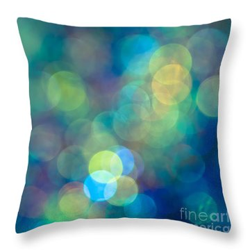 Blue Of The Night Throw Pillow by Jan Bickerton