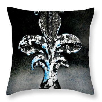 Blue On Black Throw Pillow by Scott Pellegrin