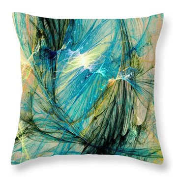 Blue Phoenix Throw Pillow by Anastasiya Malakhova