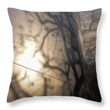 Blue Ribbon Garden 2 Throw Pillow by Gandz Photography