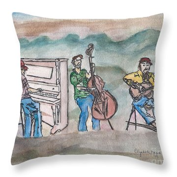 Blue Ridge Tradition   Throw Pillow by Elizabeth Briggs