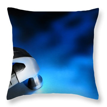 Blue Strike Throw Pillow by Olivier Le Queinec