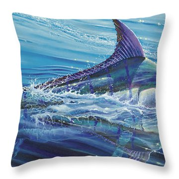 Blue Tranquility Off0051 Throw Pillow by Carey Chen