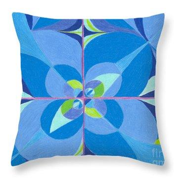 Blue Unity Throw Pillow by Kim Sy Ok