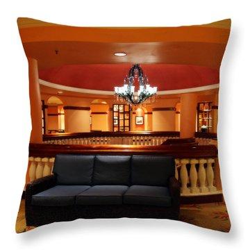 Blue Velvet Throw Pillow by Karen Wiles