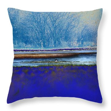 Blue Water Throw Pillow by Carol Lynch