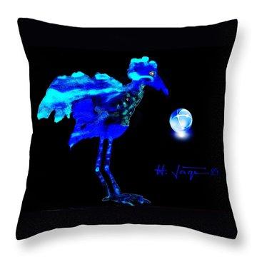 Bluebird Watching Throw Pillow by Hartmut Jager
