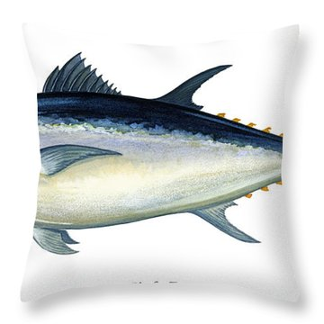 Bluefin Tuna Throw Pillow by Charles Harden