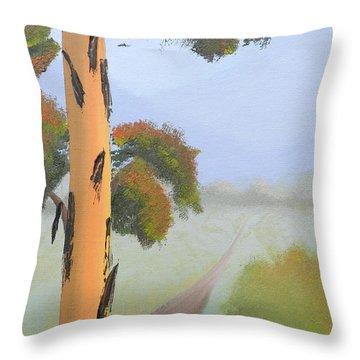 Bluegum Throw Pillow by Leana De Villiers