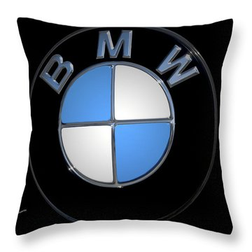 Bmw Emblem Throw Pillow by DigiArt Diaries by Vicky B Fuller