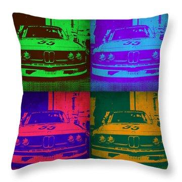 Bmw Racing Pop Art 1 Throw Pillow by Naxart Studio