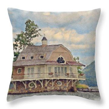 Boathouse  Throw Pillow by Susan Leggett