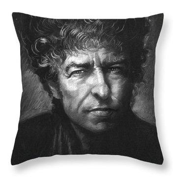 Bob Dylan Throw Pillow by Viola El
