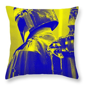 Boba Fett Costume 1 Throw Pillow by Micah May