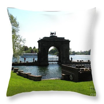 Boldt Castle Entry Arch Throw Pillow by Rose Santuci-Sofranko