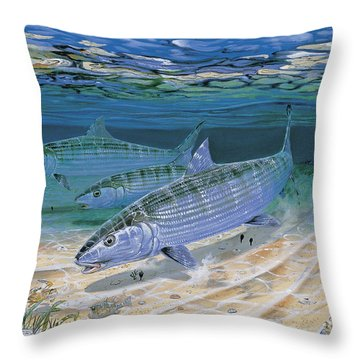 Bonefish Flats In002 Throw Pillow by Carey Chen