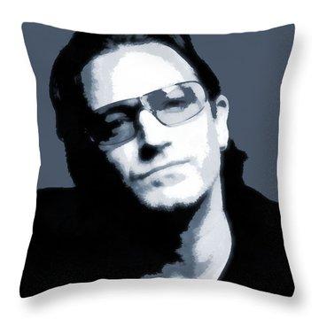 Bono Throw Pillow by Dan Sproul
