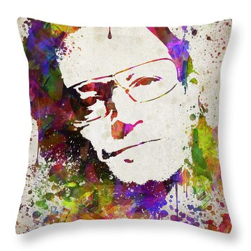 Bono In Color Throw Pillow by Aged Pixel