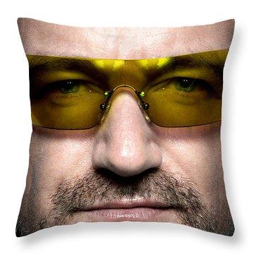 Bono  Throw Pillow by Marvin Blaine