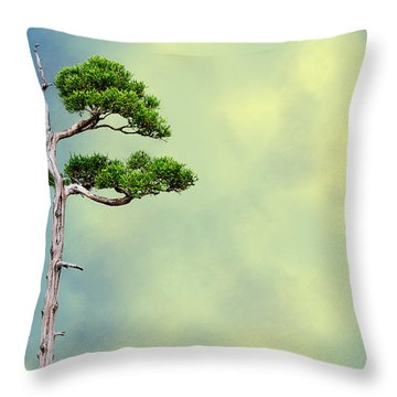 Bonsai Glow Throw Pillow by John Haldane