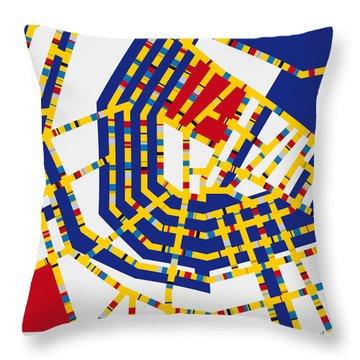 Boogie Woogie Amsterdam Throw Pillow by Chungkong Art