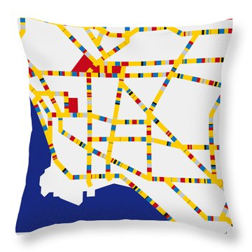 Boogie Woogie Los Angeles Throw Pillow by Chungkong Art